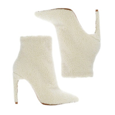White Shearling Booties