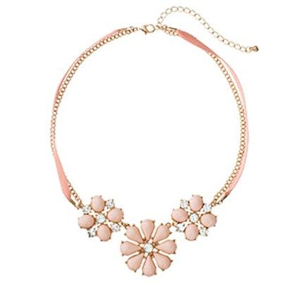 Flower Cabochon Necklace