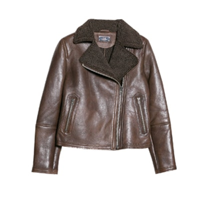 Shearling Lined Leather Jacket