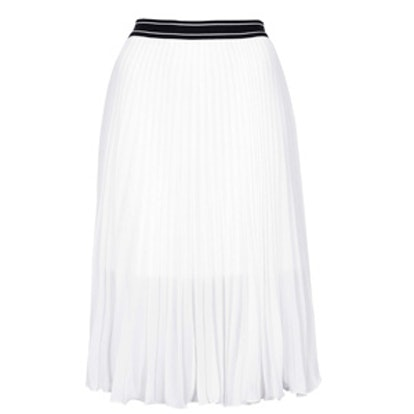 Sport Waistband Pleat Midi Skirt