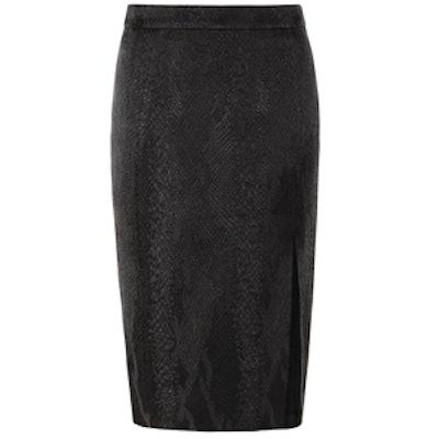 Pencil Skirt in Black Jacquard