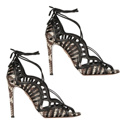 Lola Lace-Up Leather Sandals