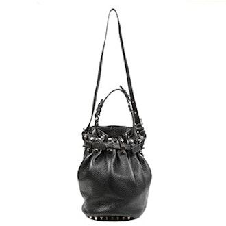 Black Leather Diego Bag
