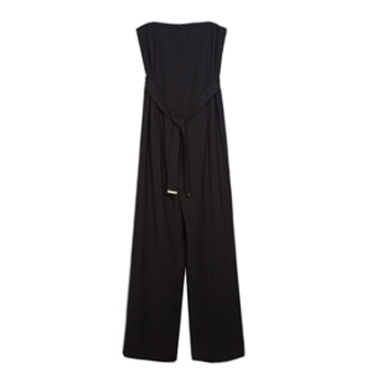 Strapless Jumpsuit With Sash