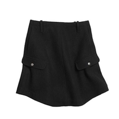 Wool Round Hem Skirt