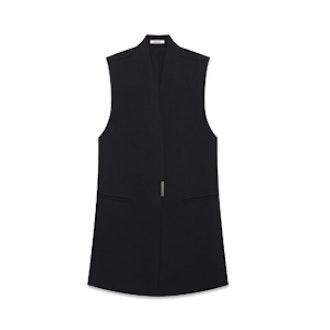 Black Wool Vest