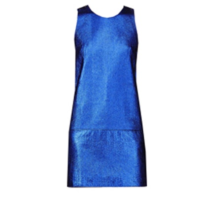Metallic Leather Mini Dress