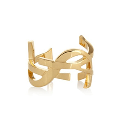 Monogramme Gold Plated Cuff