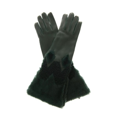 Zoe Leather Shearling Gloves