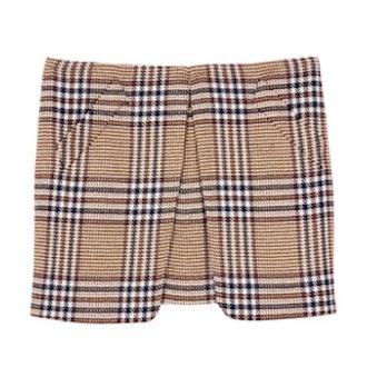 August Short Plaid Skirt