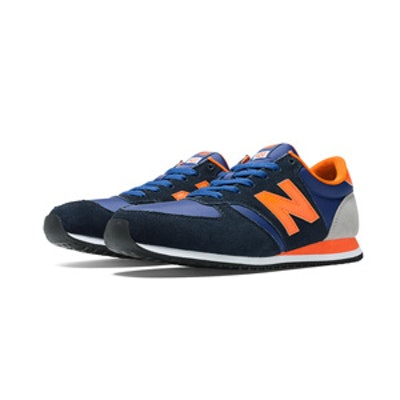 Sneakers In Navy And Orange
