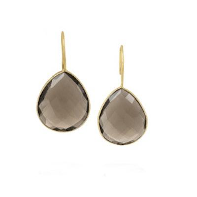 Gold Plated Quartz Earrings