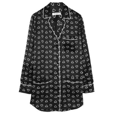 Gavin Printed Pajama Shirtdress