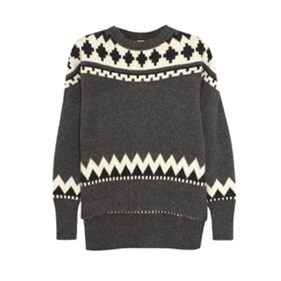 Fair Isle Wool and Cashmere Sweater
