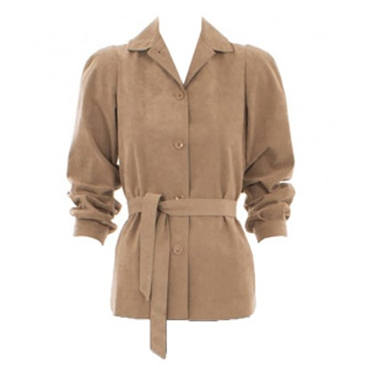 Brown Jacket with Matching Belt