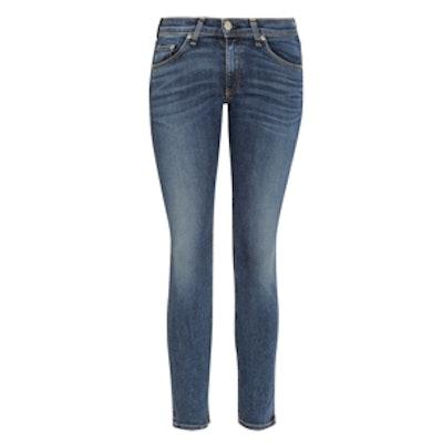Capri Cropped Mid-Rise Skinny Jeans