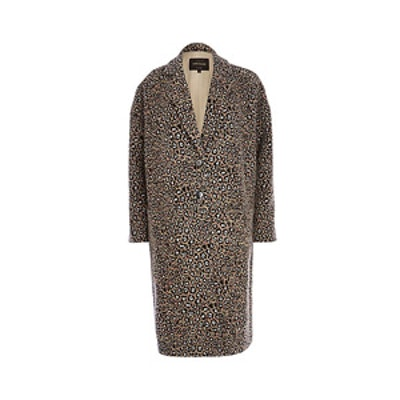 Animal Print Jacquard Coat