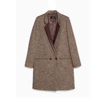 Flecked Wool Coat