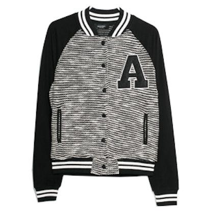 Knit Varsity Jacket