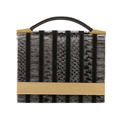 Metallic Croc Shoulder Bag