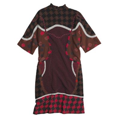 Pattern Silk Piece Dress