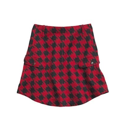 Twill Printed Round Hem Skirt