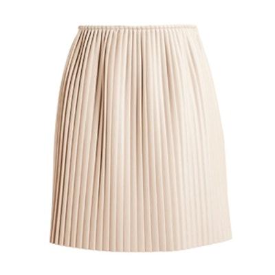 Pleated Eco Leather Skirt