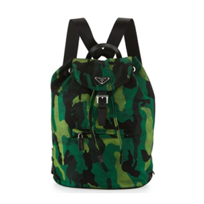Tessuto Camo Nylon Backpack