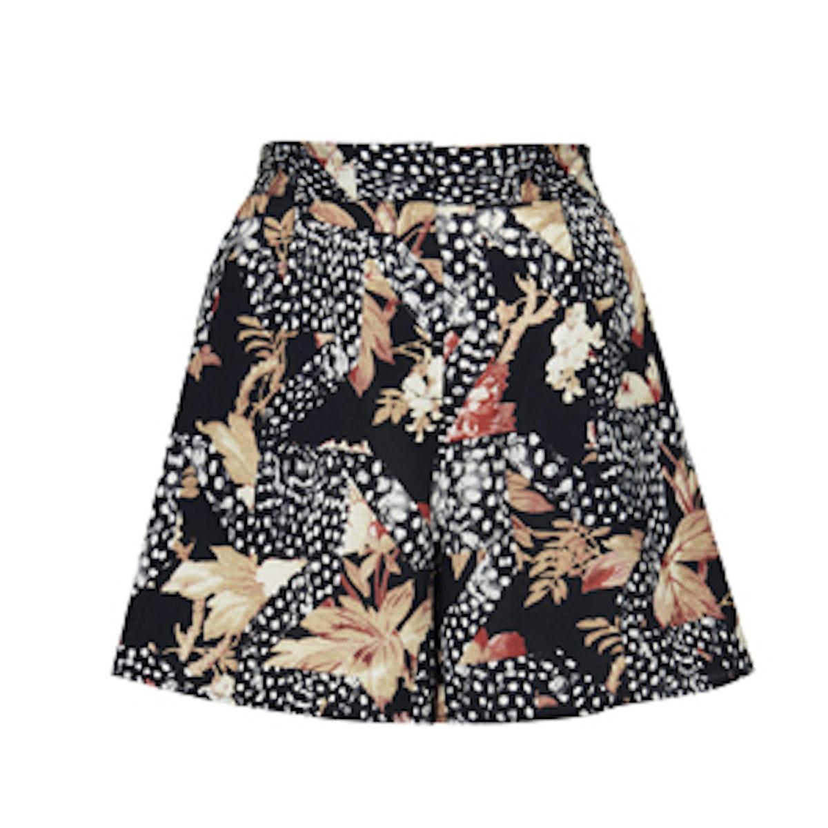 Silk Printed Shorts