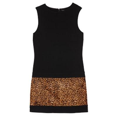 Sheath Dress with Animal Print