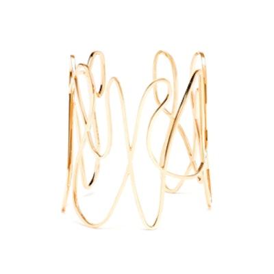 Gold White Noise Bracelet