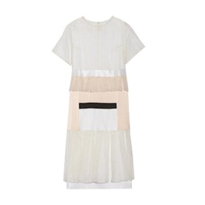 Visions Paneled Silk Organza Dress