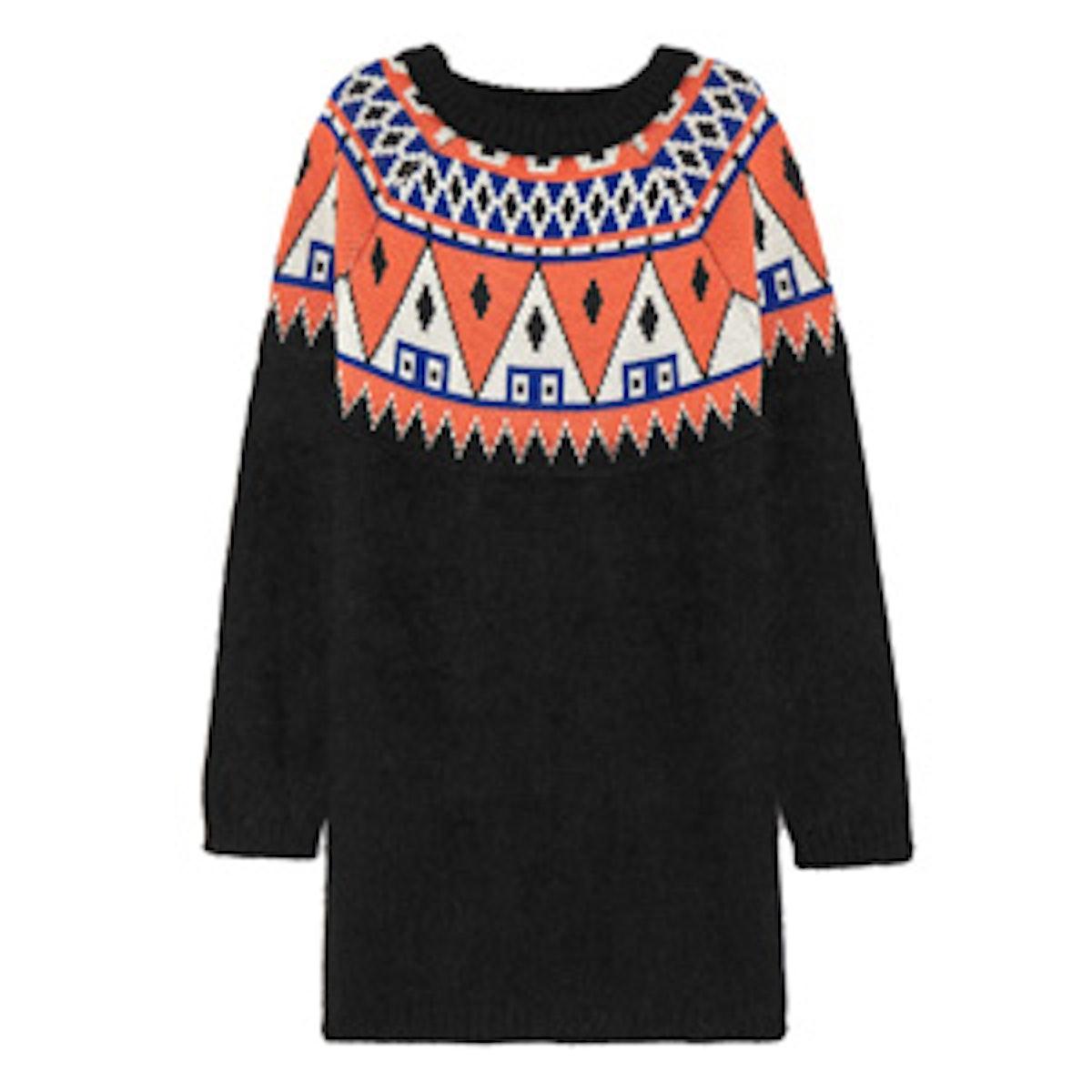 Angora And Wool-Blend Sweater Dress