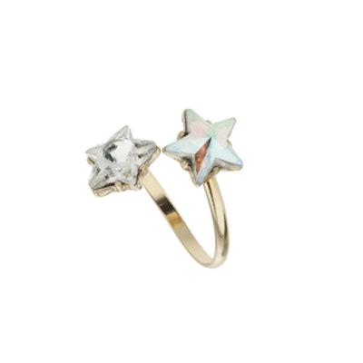 Star Stone Split Band Ring