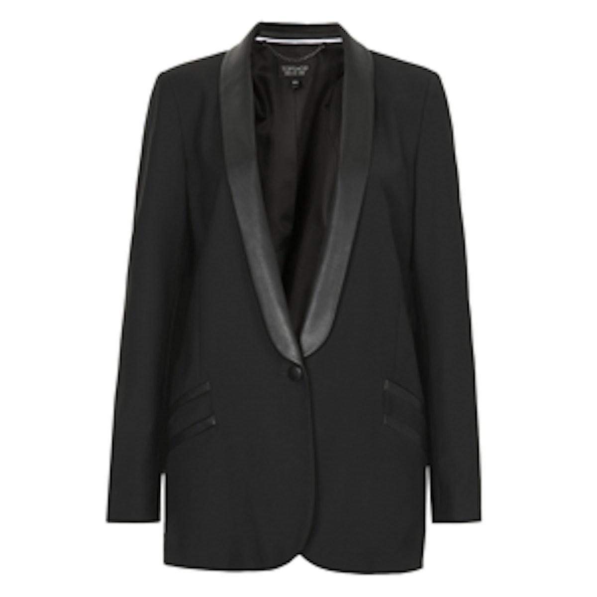 Longline PU Tuxe Blazer