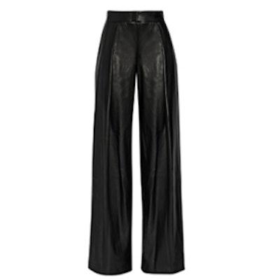 Wide Leg Faux Leather Pants