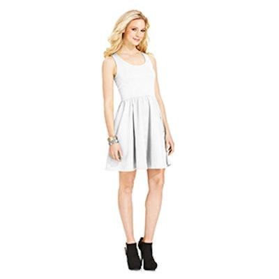 Jayne Textured Corset-Back Dress