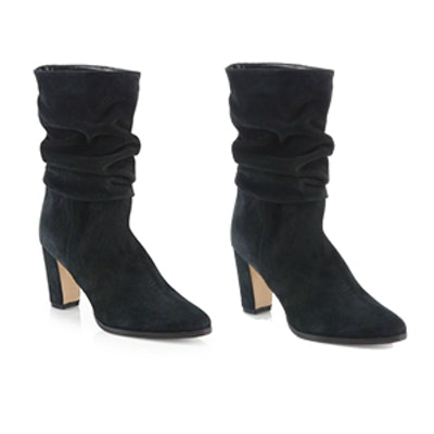 Slouchy Suede Mid-Calf Boots