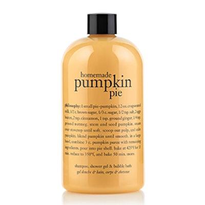 Homemade Pumpkin Pie Shower Gel