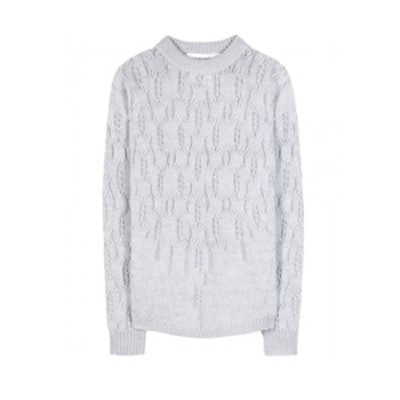 Beyond the Lines Wool and Angora Sweater
