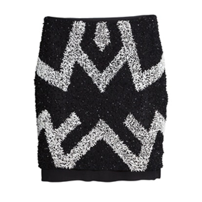 Sequined Patterned Skirt