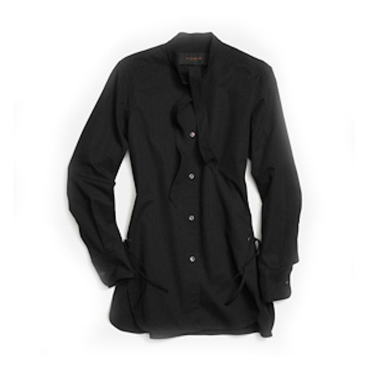 Cotton Tie Collar Shirt