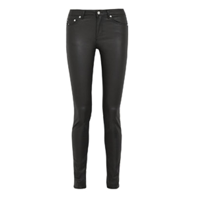 Coated High Rise Skinny Jeans