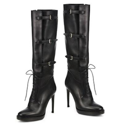 Knee-High Leather Platform Boots