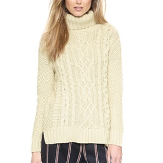 Egyptian Cable Turtleneck