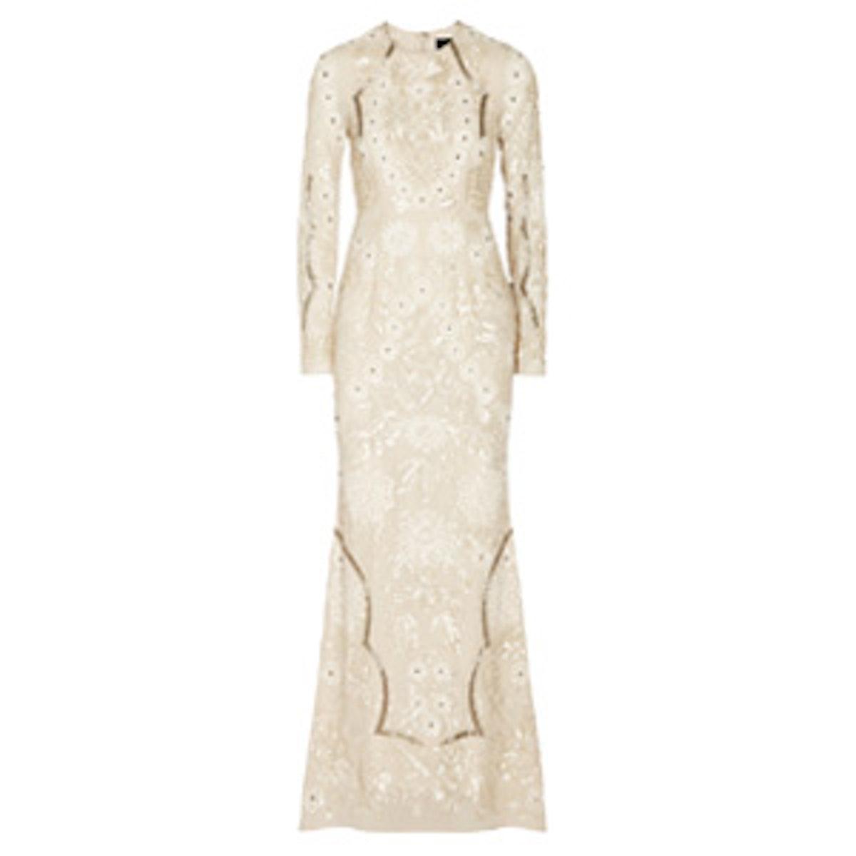 Embellished Crepe Gown