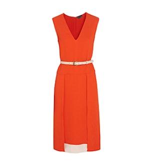 Stretch-georgette dress