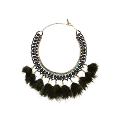 Crystal and Feather Necklace