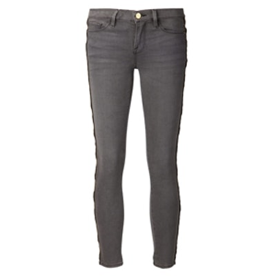 Skinny Zipper Outseam Jeans