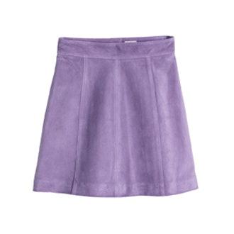Suede Skirt in Purple